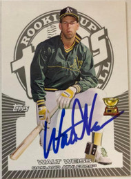 SOLD 6182 Walt Weiss Autographed 2005 Topps Rookie Cup #63