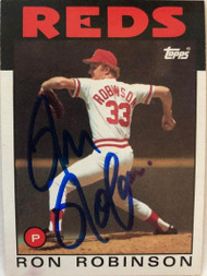 Ron Robinson Autographed 1986 Topps #442