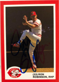 Ron Robinson Autographed 1987 Reds Kahn's #33