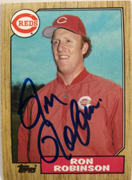 Ron Robinson Autographed 1987 Topps #119