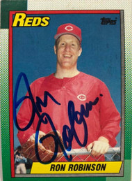 Ron Robinson Autographed 1990 Topps #604