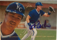 Pat Borders Autographed 1995 Flair #263