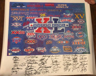 Super Bowl XL Signed Giclee Print Signed by all possible 44 MVP's LE 27/40