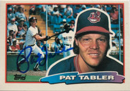 Pat Tabler Autographed 1988 Topps Big #173