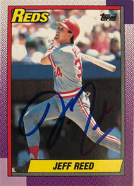 Jeff Reed Autographed 1990 Topps #772