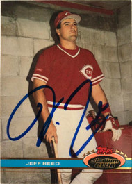 Jeff Reed Autographed 1991 Stadium Club #534
