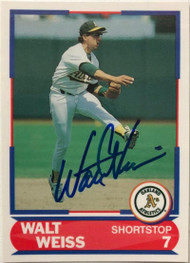 SOLD 6400 Walt Weiss Autographed 1989 Score Young Superstars I #20