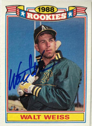 Walt Weiss Autographed 1989 Topps Rookies #21