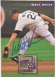 SOLD 6411 Walt Weiss Autographed 1996 Donruss #203
