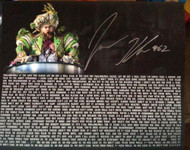 Jason Kelce autographed Super Bowl Parade 16 x 20 Philadelphia Eagles Mummers