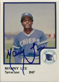 Manny Lee Autographed 1986 Syracuse Chiefs Pro Cards
