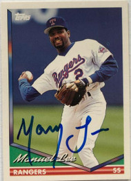 Manny Lee Autographed 1994 Topps #51