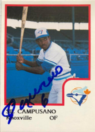 Sil Campusano Autographed 1986 Knoxville Blue Jays Pro Cards #4