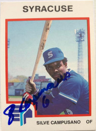 Sil Campusano Autographed 1987 Syracuse Chiefs Pro Cards #1928