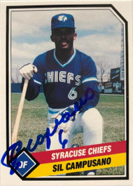 Sil Campusano Autographed 1989 Syracuse Chiefs CMC #21