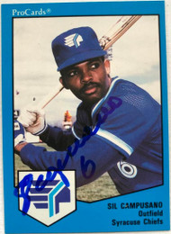 Sil Campusano Autographed 1989 Syracuse Chiefs Pro Cards #808