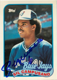 Sil Campusano Autographed 1989 Topps Tiffany #191