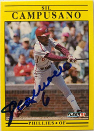 Sil Campusano Autographed 1991 Fleer #389