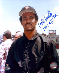 Willie Montanez Autographed Giants 8 x 10 Photo