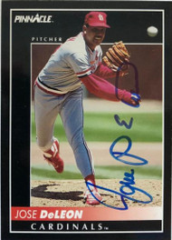 Jose DeLeon Autographed 1992 Pinnacle #341