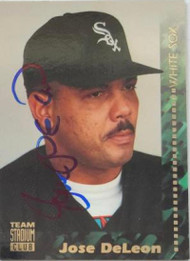 Jose DeLeon Autographed 1994 Stadium Club Team #130
