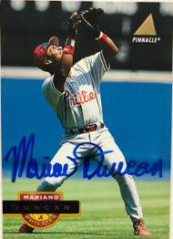 Mariano Duncan Autographed 1994 Pinnacle #479