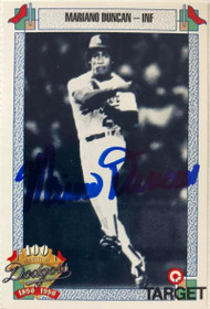 Mariano Duncan Autographed 1990 Dodgers Target #205