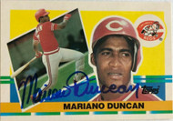 Mariano Duncan Autographed 1990 Topps Big #243