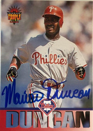 Mariano Duncan Autographed 1994 Triple Play #172