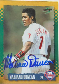 Mariano Duncan Autographed 1995 Score Gold Rush #350
