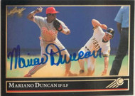 Mariano Duncan Autographed 1992 Leaf Black Gold #311