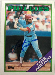 Luis Aguayo Autographed 1988 Topps #356
