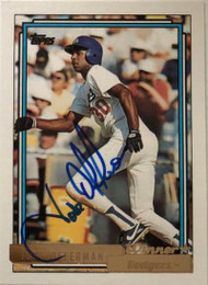 Jose Offerman Autographed 1992 Topps Gold Winner #493