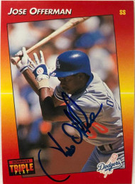 Jose Offerman Autographed 1992 Triple Play #153