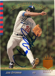 Jose Offerman Autographed 1993 SP #97