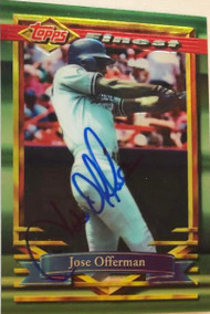 Jose Offerman Autographed 1994 Topps Finest #23