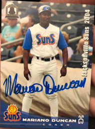 Mariano Duncan Autographed 2004 Grandstand Jacksonville Suns