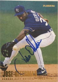 Jose Offerman Autographed 1996 Fleer Update #U42