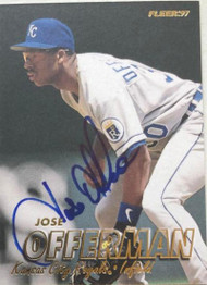 Jose Offerman Autographed 1997 Fleer #118