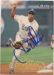 Jose Offerman Autographed 1998 Fleer Tradition #557