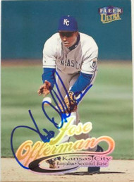 Jose Offerman Autographed 1999 Fleer Ultra #66
