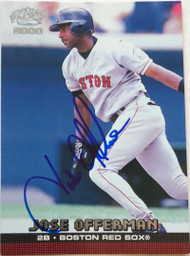 Jose Offerman Autographed 2000 Pacific #70