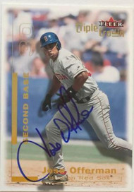 Jose Offerman Autographed 2001 Fleer Triple Crown #248
