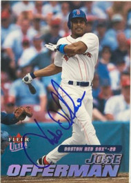 Jose Offerman Autographed 2001 Fleer Ultra #118
