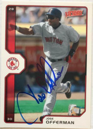 Jose Offerman Autographed 2002 Victory #145