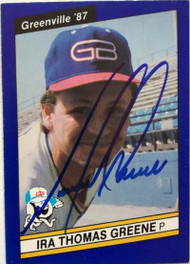 Tommy Greene Autographed 1987 Greenville Braves Best #23