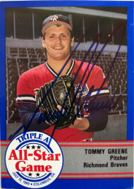 Tommy Greene Autographed 1989 Triple A All-Stars Pro Cards #AAA-54