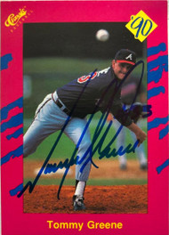 Tommy Greene Autographed 1990 Classic Update #T22