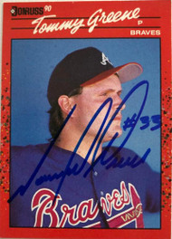 Tommy Greene Autographed 1990 Donruss #576