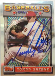 Tommy Greene Autographed 1993 Topps Finest #149